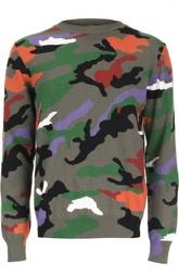 Кашемировый пуловер с принтом Valentino
