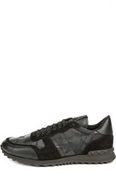 Кожаные кроссовки со вставками Valentino
