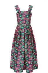 Приталенный сарафан-миди с яркой отделкой Dolce & Gabbana
