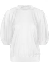Шерстяной приталенный пуловер с укороченным рукавом Givenchy