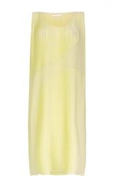 Плиссированное прямое платье-миди HUGO BOSS Black Label