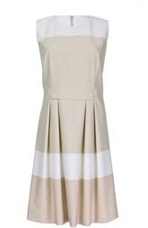Приталенное платье без рукавов с защипами HUGO BOSS Black Label
