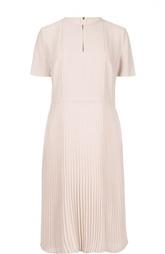 Приталенное платье-миди с плиссированной юбкой HUGO BOSS Black Label