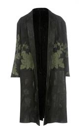 Пальто с широкими рукавами и растительным принтом Dries Van Noten