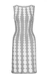 Обтягивающее платье с контрастным принтом Alaia