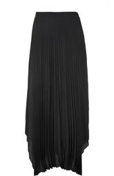 Плиссированная юбка-макси с асимметричным низом Helmut Lang