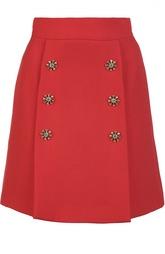 Мини-юбка с декоративными пуговицами Dolce & Gabbana