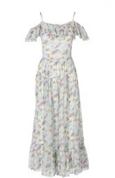 Шелковый сарафан с цветочным принтом Saint Laurent