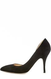 Открытые замшевые туфли на шпильке Duccio Venturi Bottier