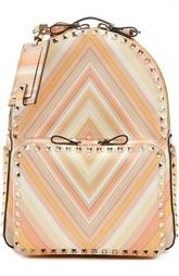 Кожанный рюкзак с металлическими шипами Rockstud Valentino