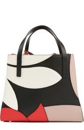 Кожаная сумка с контрастными вставками Marni