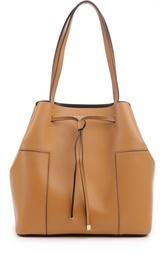 Кожаная сумка на шнурках Block-It Tory Burch