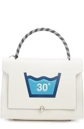 Кожаная сумка с апликацией Anya Hindmarch