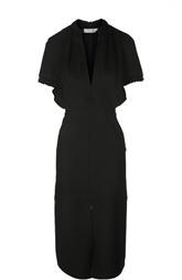 Платье с глубоким V-образным вырезом и разрезом Victoria Beckham