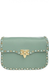 Кожаная сумка с металлическими шипами Rockstud Valentino