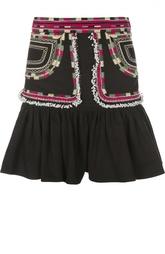 Расклешенная мини-юбка с декоративной вышивкой Isabel Marant