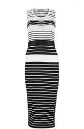Платье миди в полоску Cruciani