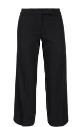 Укороченные прямые брюки с прорезными карманами DKNY