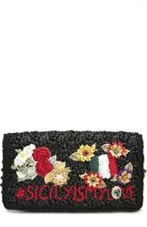 Клатч с аксессуарами Rosa Dolce & Gabbana