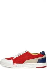 Кеды выполненные в технике color block из комбинированной кожи Berluti Shoes