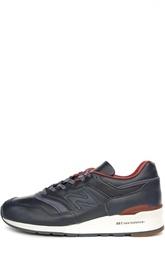 Кожаные кроссовки с нейлоновыми вставками New Balance