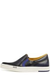 Слипоны с ручным нанесением патинирования Berluti Shoes