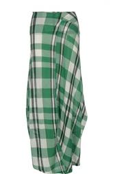 Хлопковая юбка макси в клетку Stella McCartney