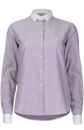 Приталенная рубашка с контрастными воротником и манжетами Fay