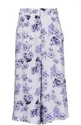 Широкие укороченные брюки с принтом Fay
