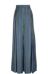 Шелковая юбка макси в полоску Kiton