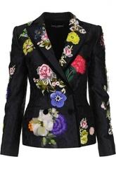 Приталенный жакет с вышивкой Dolce & Gabbana