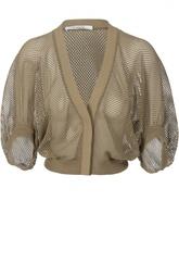 Сетчатый хлопковый пуловер с широкими рукавами Givenchy