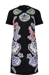 Приталенное мини-платье с контрастными нашивками Emilio Pucci