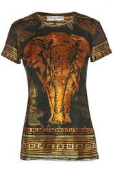 Приталенная футболка с африканским принтом Valentino
