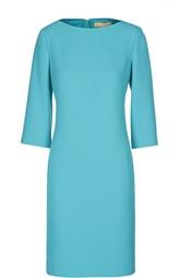 Шерстяное платье-футляр с вырезом лодочка Michael Kors