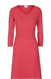 Приталенное платье с V-образным вырезом Armani Collezioni