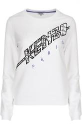 Хлопковый свитшот с вышитым логотипом бренда Kenzo