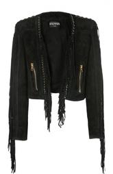 Куртка замшевая Balmain