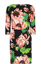 Платье-футляр с цветочным принтом Stella McCartney