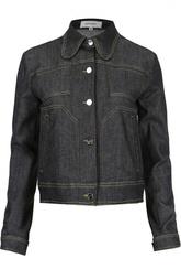 Джинсовая куртка с контрастными швами Carven