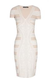 Платье-футляр с принтом Alexander McQueen