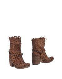 Коричневые Полусапоги и высокие ботинки Fauzian Jeunesse Vintage