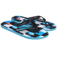 Шлепанцы детские Quiksilver Molokaicheckyt B Black/Blue/White