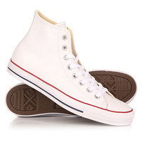 Кеды кроссовки высокие Converse Chuck Taylor All Star Leather White