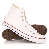 Кеды кроссовки высокие Converse Chuck Taylor All Star Leather White