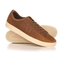 Кеды кроссовки низкие Fred Perry Spencer Waxed Leather Brown