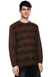 Лонгслив Globe Swyd Stripe Ls Mid Dark Brown
