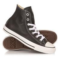 Кеды кроссовки высокие Converse Chuck Taylor All Star Leather Black