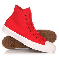 Кеды кроссовки высокие Converse Chuck Taylor All Star Ii Core Salsa Red/White