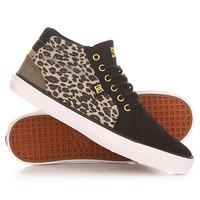 Кеды кроссовки высокие женские DC Council Mid Sp Leopard Print